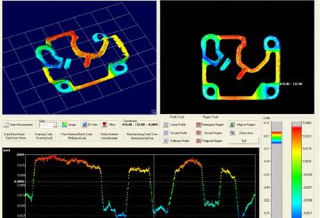 Medição óptica 3D do perfil de superfície em peças planas e quase planas por interferometria de Moiré