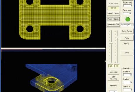 Digitalização e medição óptica tridimensional de peças de precisão e geometrias complexas